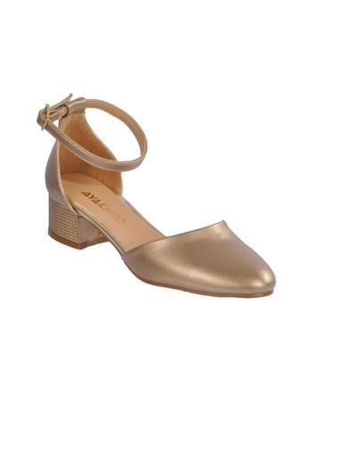 Maje 6031 Platin Kadın Topuklu Ayakkabı Altın